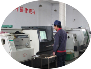 NC lathe controls the production equipment to complete production to high degree of precision and strictly according to the technical drawings